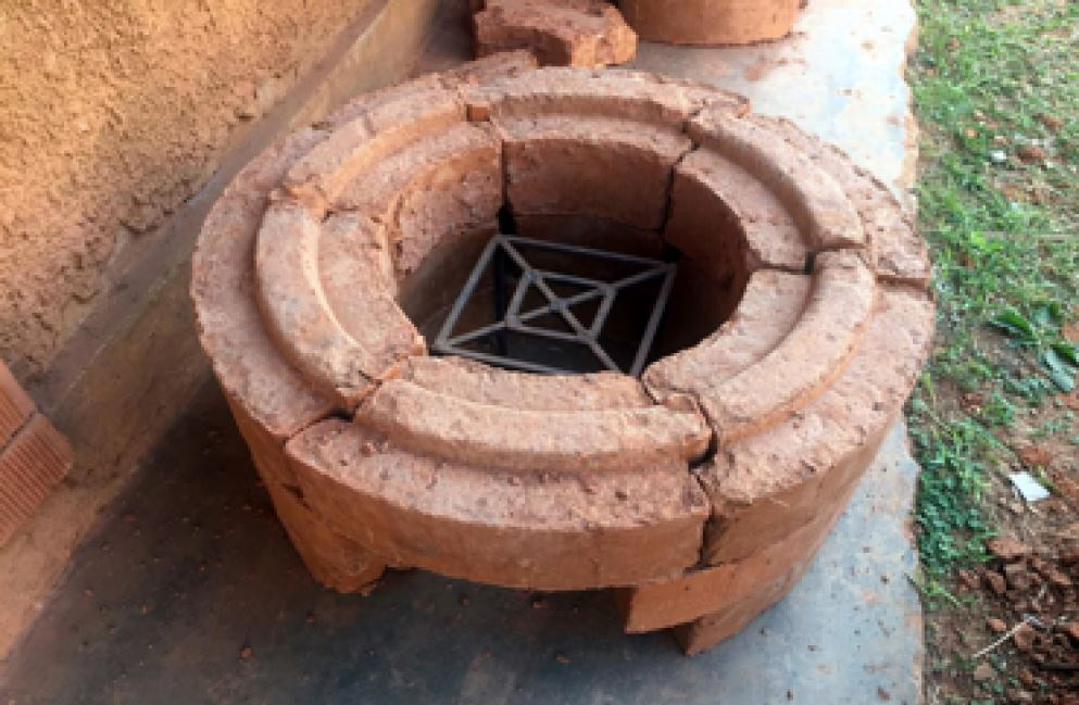 brick press - cooking stove