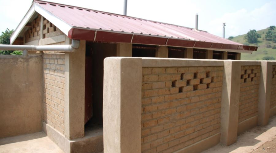 brick press examples - toilet houses